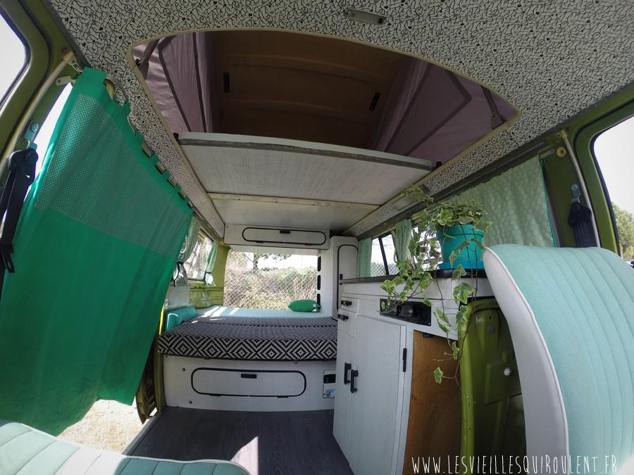 Combi vw camper sage green